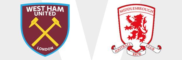 West Ham v Middlesbrough