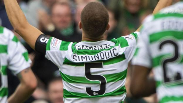 Celtic 1-0 Kilmarnock: Celtic's No 5 scores after 67 minutes