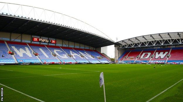 DW Stadium, home of Wigan Athletic