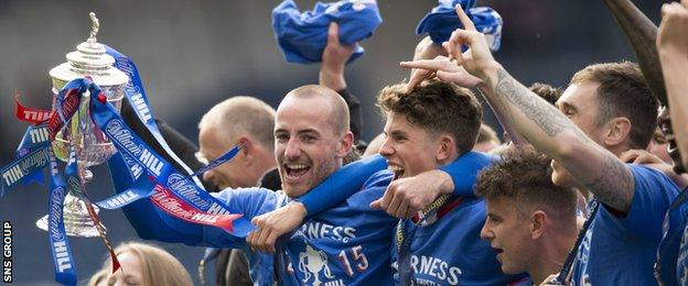 Inverness beat Falkirk 2-1 at Hampden to win the Scottish Cup for the first time
