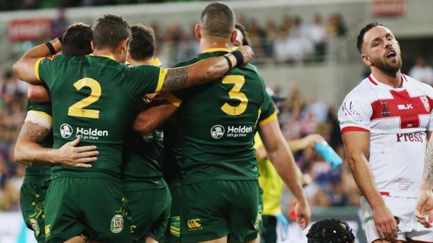 4f84514c994 Rugby League World Cup: Australia 18-4 England - BBC Sport