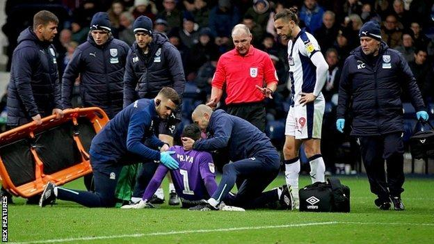 Albion striker Jay Rodriguez was concerned for David Raya following his collision with the stricken Blackburn Rovers keeper
