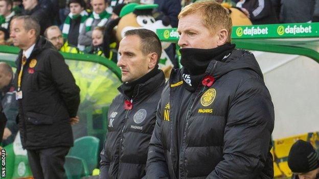 John Kennedy (left) has been linked with the vacant Hibernian post