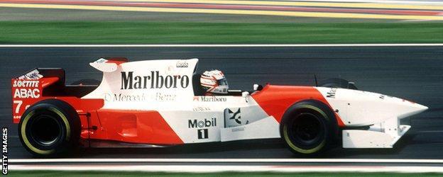 Nigel Mansell driving a 1995 McLaren