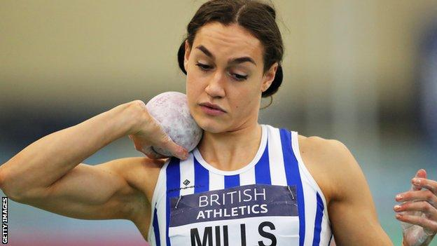 Holly Mills in action in Manchester