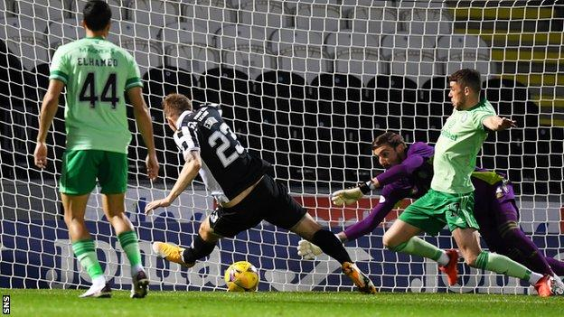 Lee Erwin's first St Mirren goal had the hosts ahead in Paisley