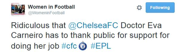 Women in Football Tweet