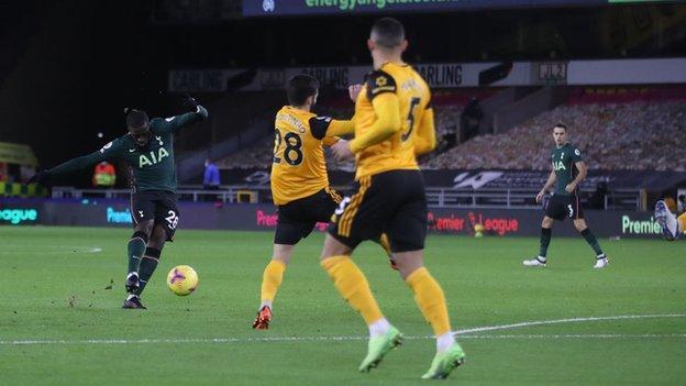 Tanguy Ndombele scores Tottenham's opener