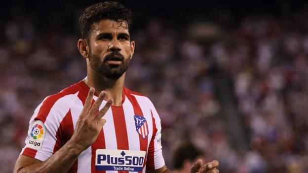Real Madrid 3-7 Atletico Madrid: Diego Costa scores four and is sent off in big derby win thumbnail