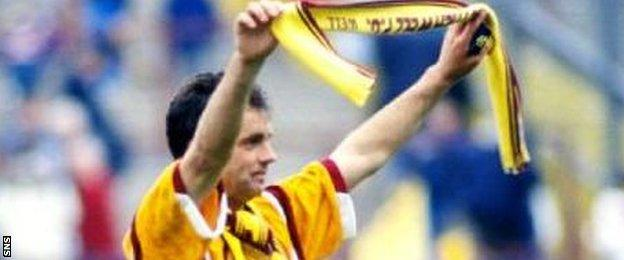Davie Cooper celebrates a famous Scottish Cup final triumph for Motherwell