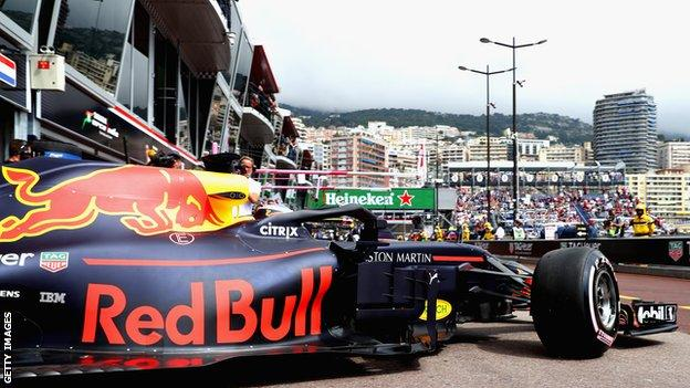 Daniel Ricciardo in action at the Monaco Grand Prix