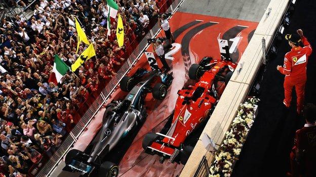 Sebastian Vettel wins the 2017 Bahrain Grand Prix