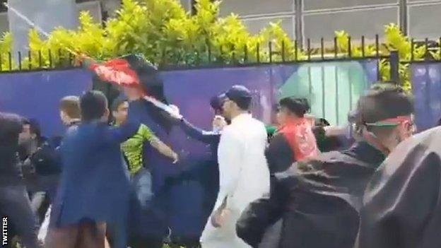 Pakistan and Afghanistan fans clashed outside Headingley at the Cricket World Cup