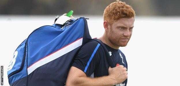 Jonny Bairstow looks on