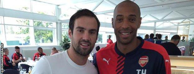 Morgan Parra and Thierry Henry