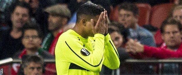 Celtic left-back Emilio Izaguirre