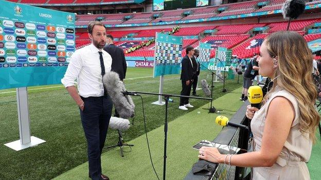 Kelly Somers and Gareth Southgate