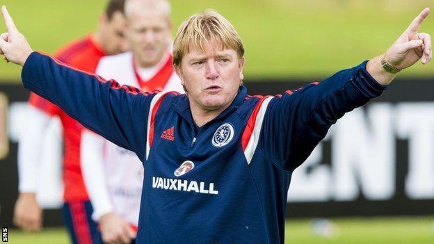 Stuart McCall at Scotland training