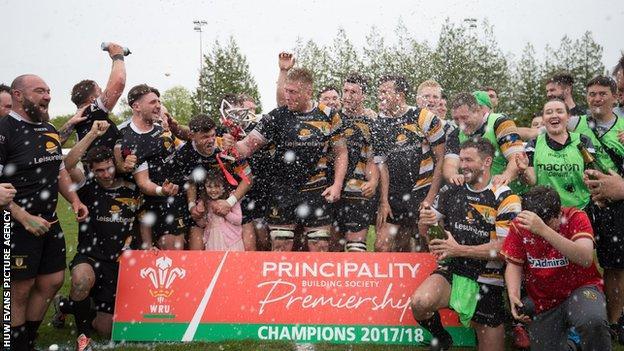 Merthyr won the 2017-18 Principality Welsh Premiership