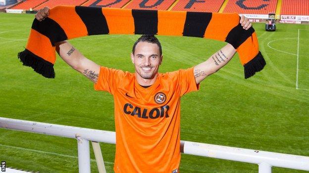 Rodney Sneijder at Tannadice