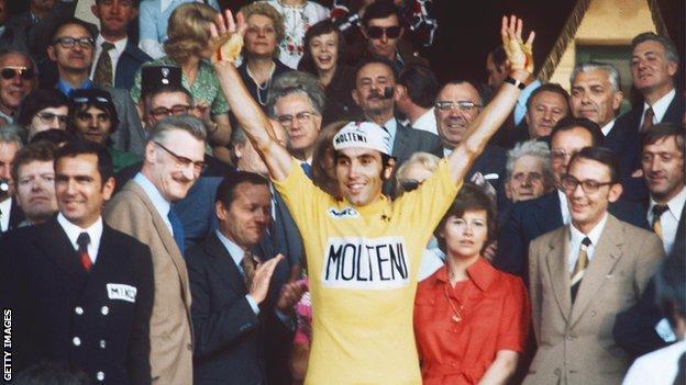 Eddy Merckx wins the 1974 Tour de France title
