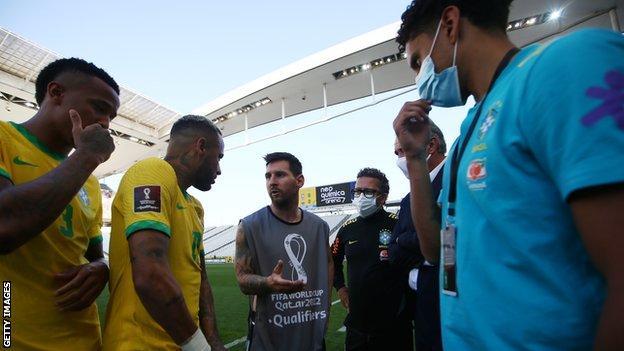 Brazil v Argentina was abandoned after just five minutes on Sunday