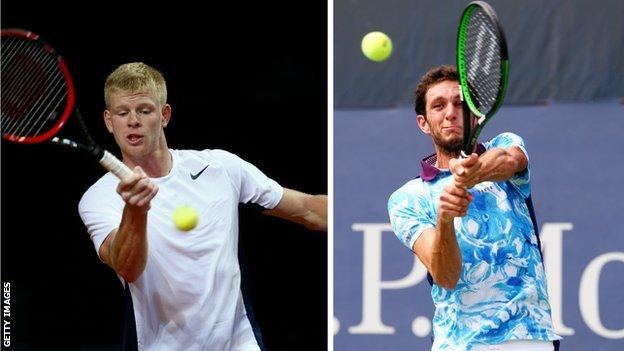 Kyle Edmund (left) and James Ward