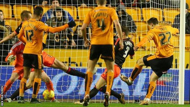Michal Zyro took just six minutes to fire Wolves ahead on his home debut