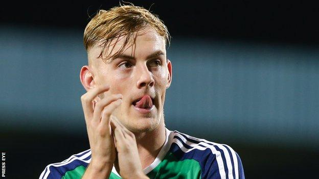 Sykes is a regular in the Northern Ireland Under-21 side