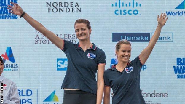Hannah Mills has been sailing with Eilidh McIntyre (left) since 2017