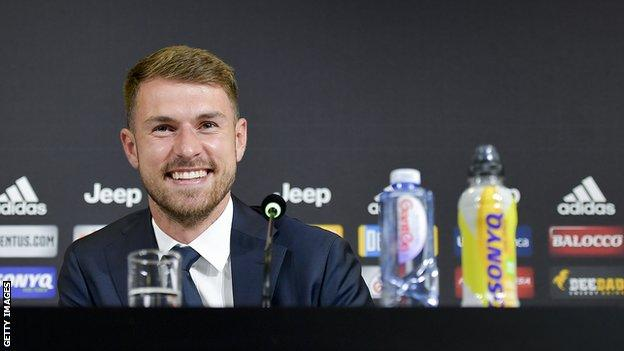 Aaron Ramsey at his first news conference