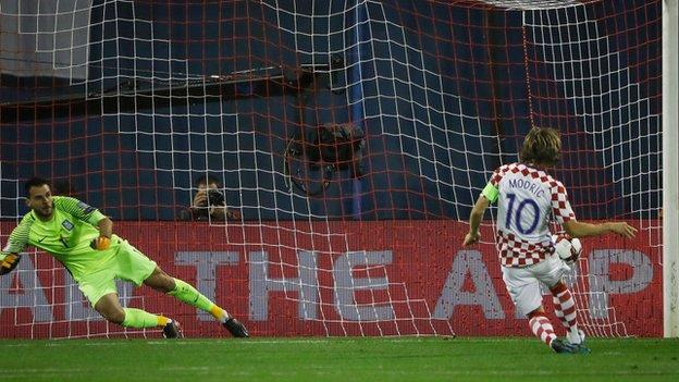Luka Modric scored Croatia's first from the penalty spot