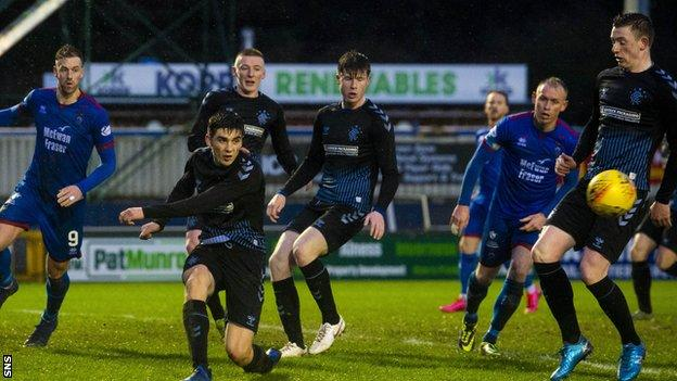 Rangers colts reached the semi-finals of last season's Challenge Cup