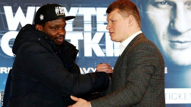 Whyte and Povetkin