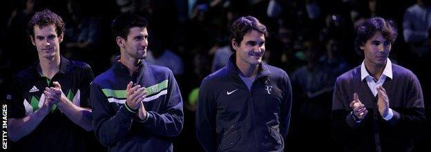 Andy Murray, Novak Djokovic, Roger Federer, Rafa Nadal