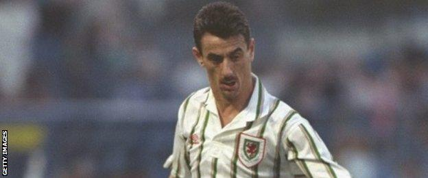 Ian Rush in action for Wales