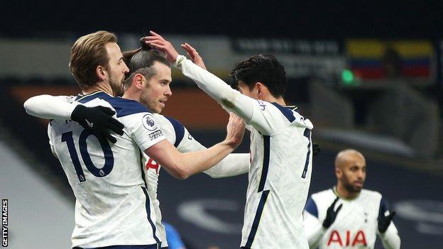 Harry Kane, Gareth Bale and Son Heung-min