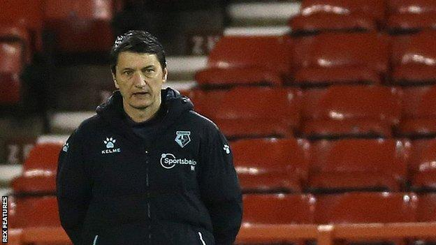 Vladimir Ivic has led Watford to six draws from 15 Championship games since his appointment