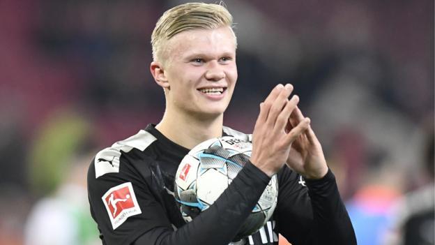 FC Augsburg 3-5 Borussia Dortmund: Erling Braut Haaland scores hat-trick on debut