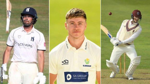 sports Warwickshire's Will Rhodes (left), Glamorgan debutant Callum Taylor and Somerset's George Bartlett (right) all had memorable days