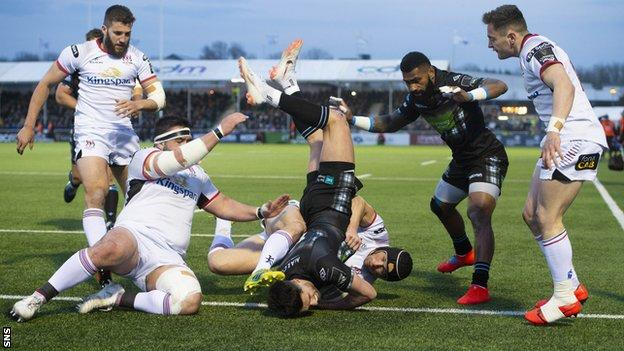 Glasgow Warriors came from behind to beat Ulster 30-7 earlier this month