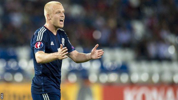 Scotland forward Steven Naismith