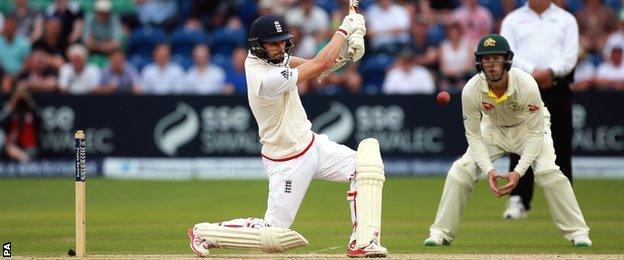 Mark Wood hits out