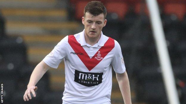 Joe Gorman will be eligible to play for Cliftonville from 1 January