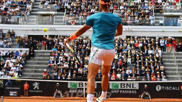 Rafael Nadal at the Italian Open final