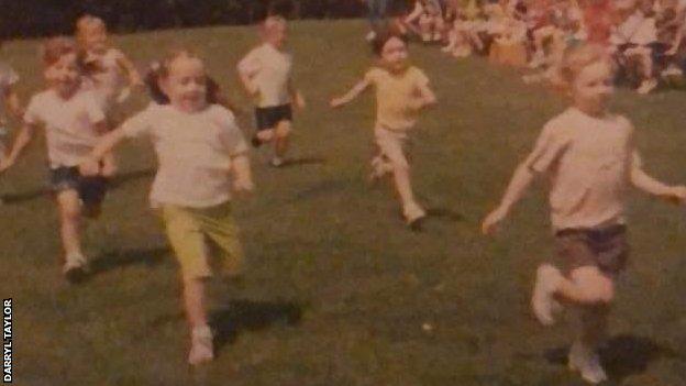 Taylor-Brown memenangkan perlombaan pada usia delapan tahun
