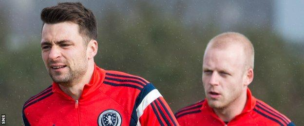 Russell Martin and Steven Naismith