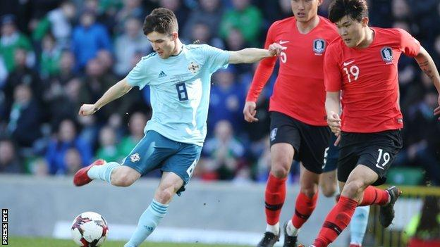 Smyth scored just four minutes after coming on as a Northern Ireland substitute
