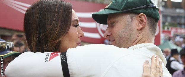 Michael Clarke with wife Kyly