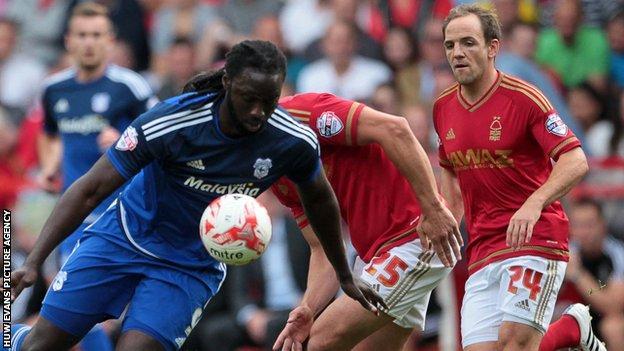 Kenwyne Jones in action against Nottingham Forest